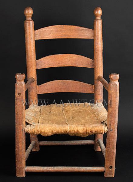 Pair Of Thumb Back Youth Windsor Chairs Lynn, Massachusetts Circa 1850