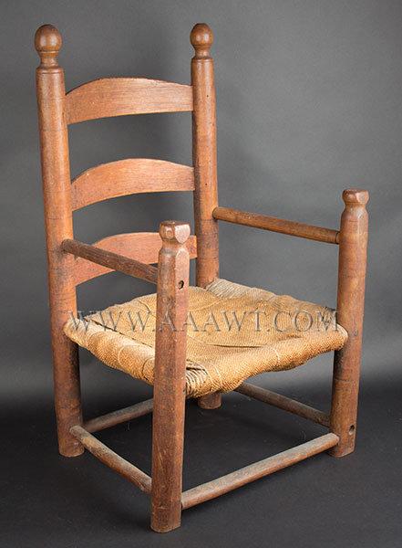 Red Wood Rush Bottom Chair