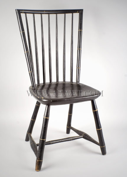 Chair, Windsor, Bamboo Windsor, Black Paint