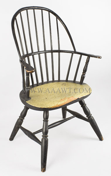 Windsor Sack Back Arm Chair, Original Surface History