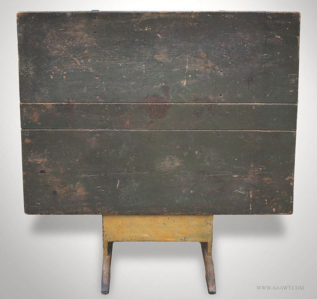 Antique Chair/Hutch Table With Rectangular Top And Shoe Feet, Circa 1820,  Top