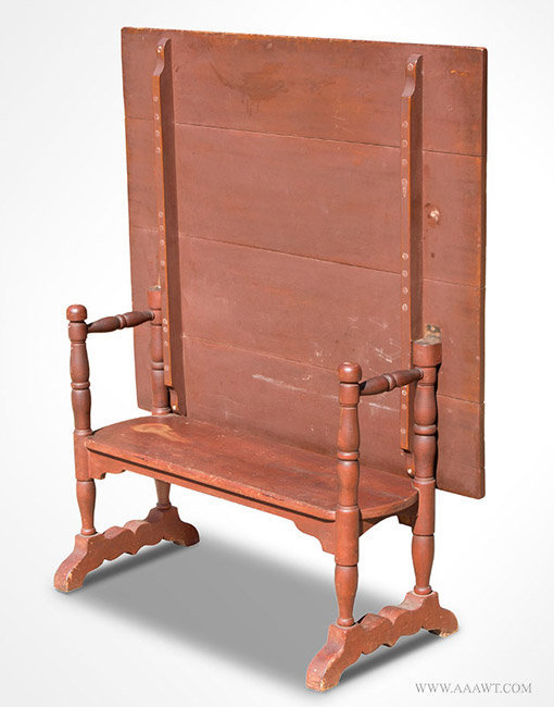 Delicieux Antique Red Painted Hutch Table, New England, Circa 1830u0027s, Top Up View