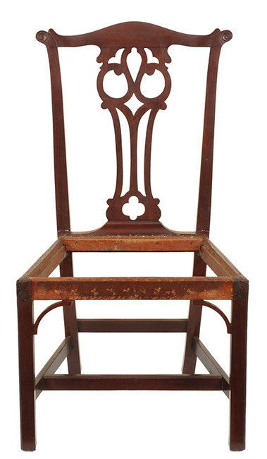 Antique Set of Six Chippendale Mahogany Side Chairs, Connecticut, Circa 1770 to 1790, entire view