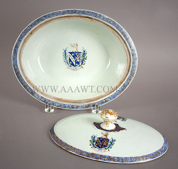 Chinese Export, Porcelain, Covered Vegetable Tureen, Armorial