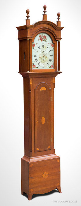 Antique Tall Clock by Daniel Porter, Massachusetts, Circa 1800, angle view