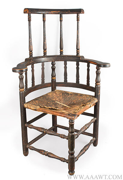 Corner Chair, Round About Chair with Comb, Original Surface History, Extremely Rare