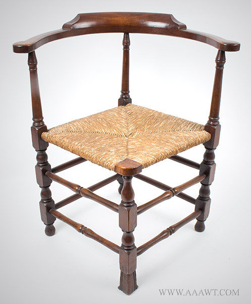 Corner Chair, Roundabout, Spanish Foot New Hampshire, 18th Century Maple -  SOLD - Antique Furniture_Chairs, Early, Country, American