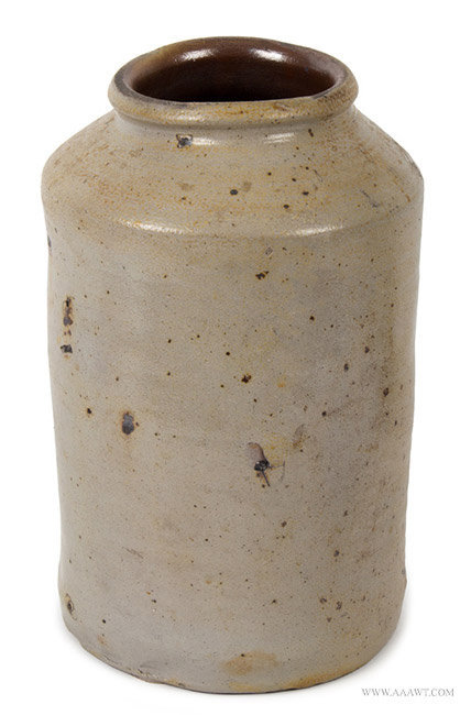 Antique Large Salt Glazed Stoneware Jar, Early 19th Century, entire view 2