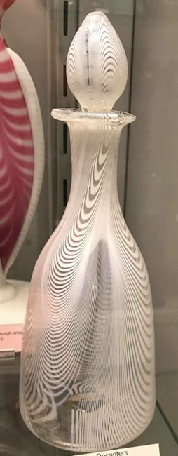 Antique Blown Glass Cut Glass Decanter Steigel Flint