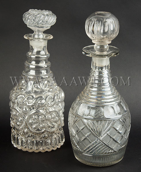 Glass, Decanters, Cut Glass, 19th Century, entire view