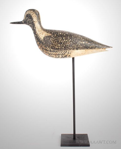 Antique Decoy, Black Bellied Plover, George Boyd, Circa 1910, entire view