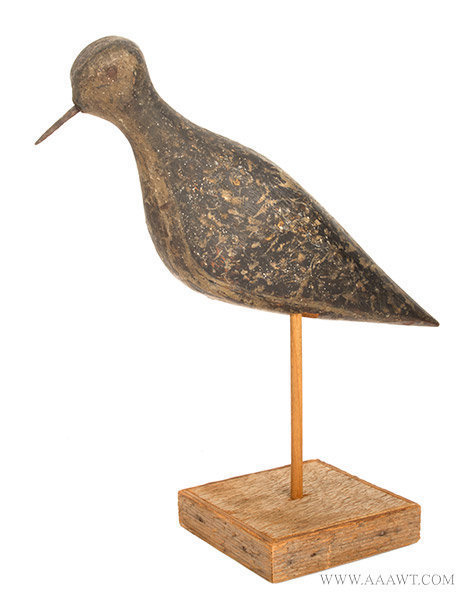 Antique Golden Plover Shorebird Decoy, Likely Massachusetts, Later 19th Century, entire view