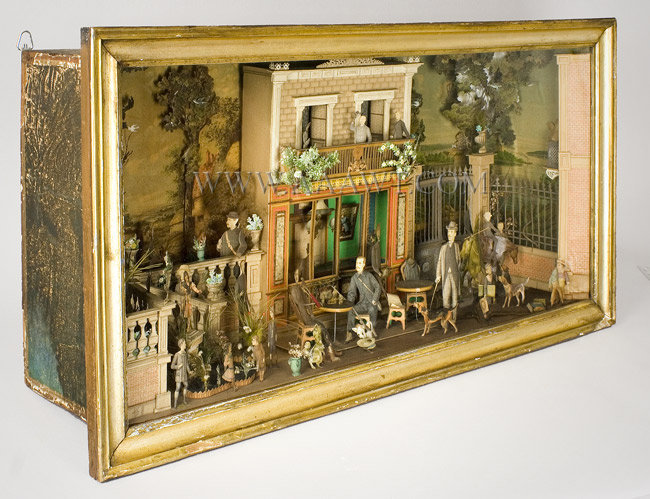 Antique Diorama, Die Cut, Anonymous, Probably French, 1890, angle view