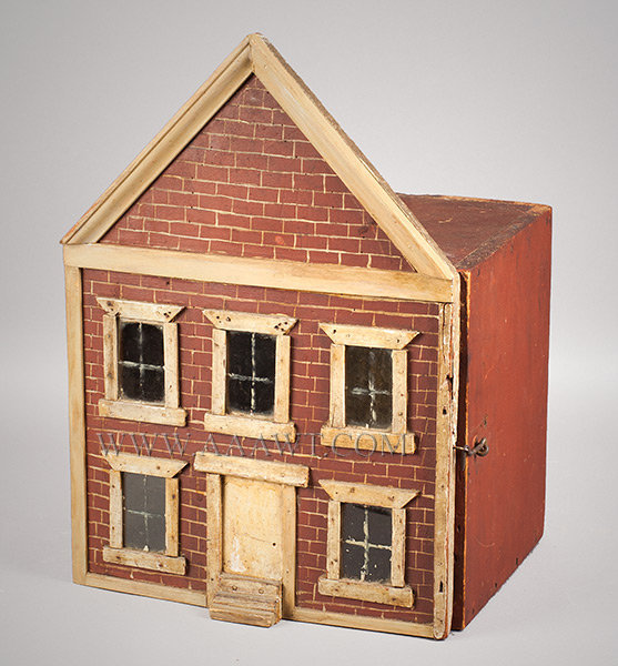 Antique Doll House, English, 19th Century, angle view