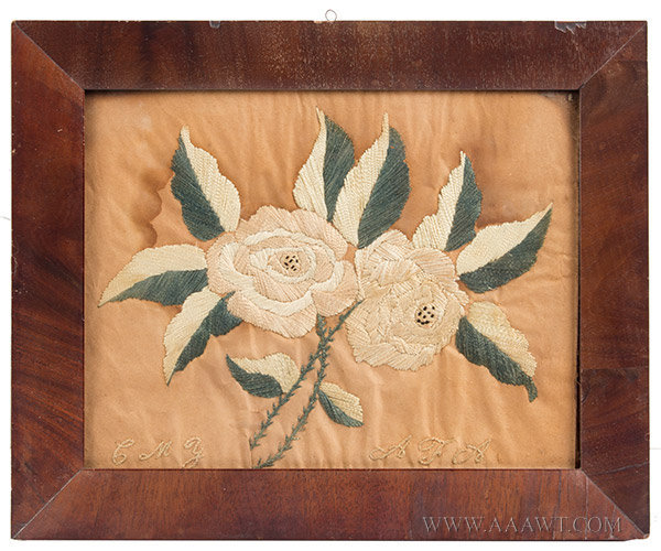 Antique Embroidery of Roses, entire view