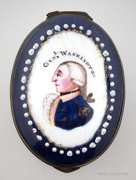 Enamel Box with Portrait of George Washington, Unknown Maker, Circa 1800 to 1810, entire view