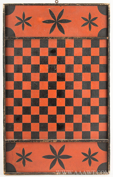 Antique Gameboard, Checkerboard, Unknown Maker, entire view