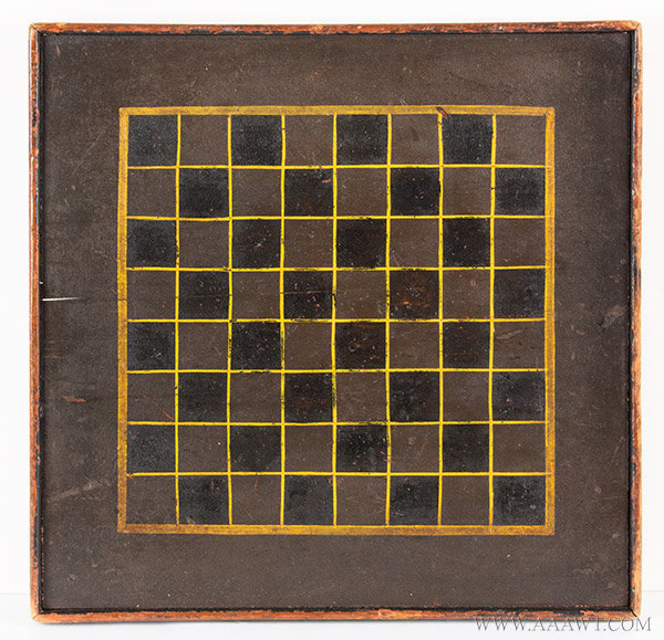 Antique Gameboard, Checkerboard, Three Color, 19th Century, entire view