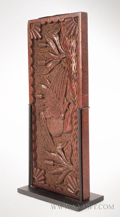 Antique Cribbage Board, Carved Decoration, Second Half 19th Century, side 2 view