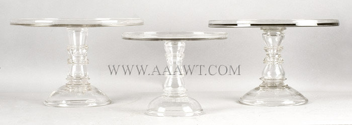 Glass, Cake Stands, Salvers, Mold Blown, entire view