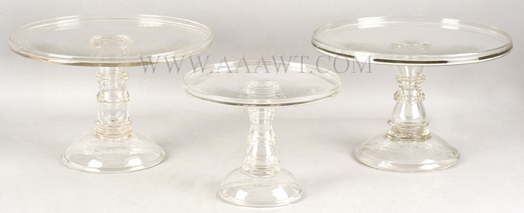 Glass, Cake Stands, Salvers, Mold Blown, angle view