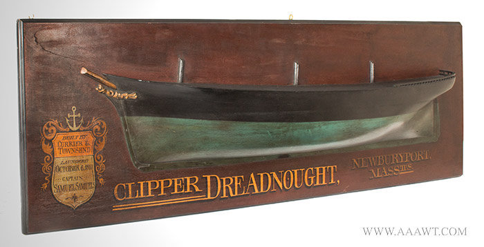 Antique Half Hull, Trade Sign, Newburyport, First Half of the 20th Century, angle view