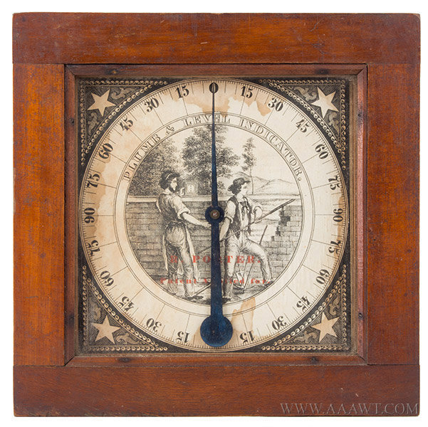 Inclinometer, Plumb and Level Indicator, Rufus Porter, Circa 1847, Fine and Rare Signed, entire view