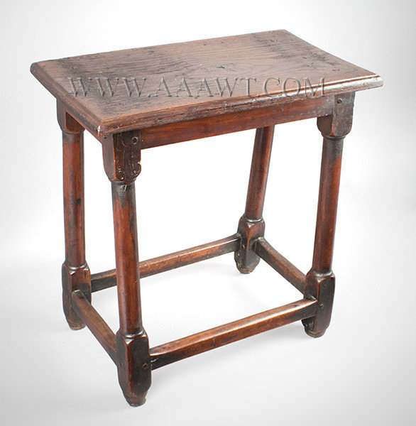 Joined Stool, Joint Stoole Table Probably England Circa 1700, entire view