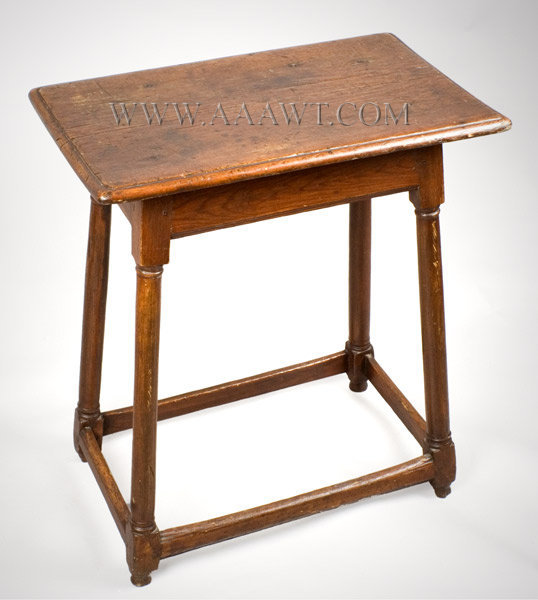 Stool Table, Joint Stool, Slightly Larger Than Usual, Splayed Legs American, Mid Atlantic or Southern Circa 1750, entire view