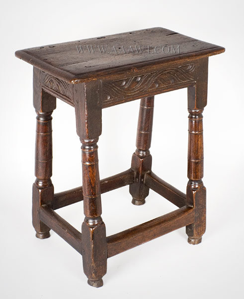 Joint Stool England Circa 1670, entire view