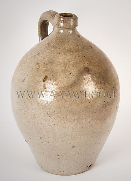 Stoneware Ovoid Jug, Barnabas Edmands & Co., Charlestown, Two Gallon, Uncommon    Early 19th Century, entire view