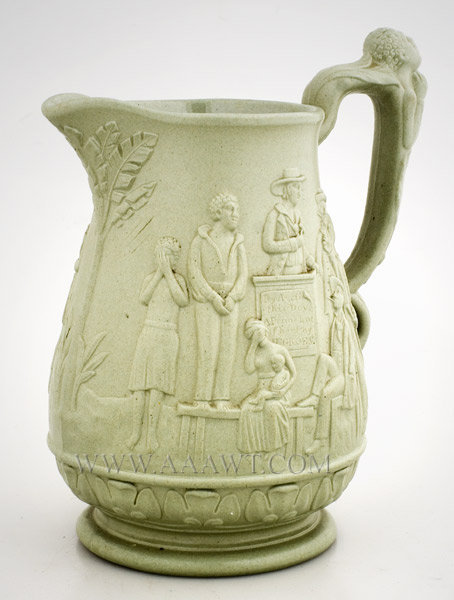 Rare Abington and Ridgeway Relief Molded Anti Slavery Jug