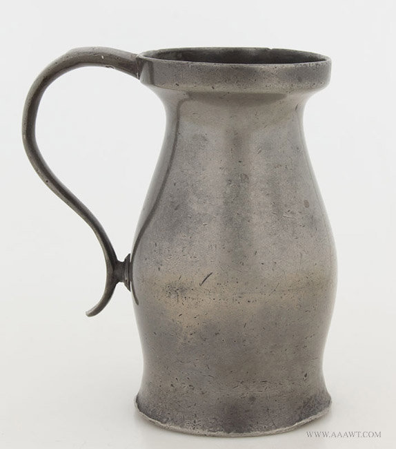 Antique Pewter Half Pint Wine Measure, English, 18th Century, entire view