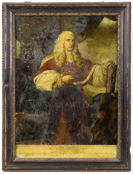 Hogarth Frame, Mezzotint, Lord Camden Eighteenth Century, entire view