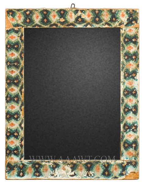 Wallpaper Covered Mirror, Antique, Woodblock Printed  First Quarter, 19th Century, entire view