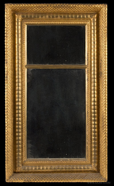 Antique Federal Mirror, Carved and Gilt, 19th Century, entire view