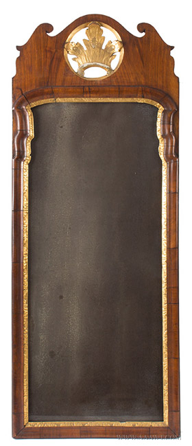Antique Georgian Period Looking Glass, England, Mid 18th Century, entire view