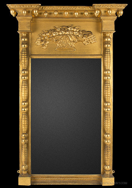 Antique Federal Mirror Attributed Samuel Field McIntire, Massachusetts, Circa 1815, entire view