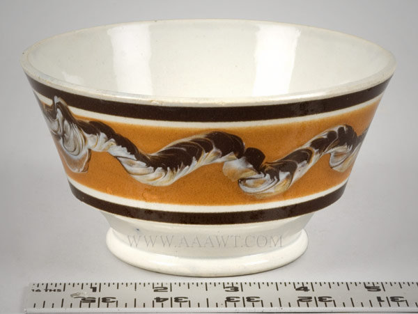 Antique Mocha Creamware Luster Earthenware Prattware