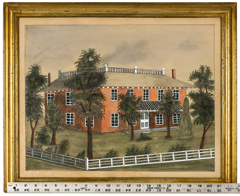 American School House Portrait Within Landscape ruler_