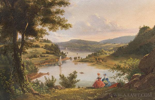 Antique Paintings Watercolors Outdoor Scenic Genre