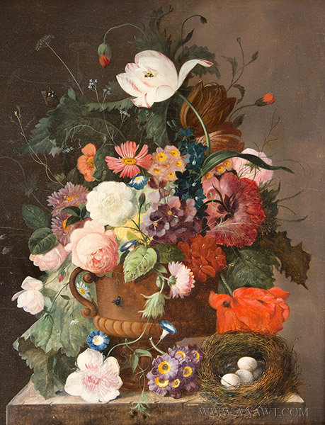 Still Life Painting in the style of the Old Dutch Masters, 19th Century, close up view