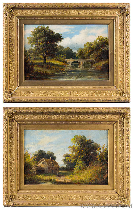 Antique Painting Outdoor Scenic Landscape Western