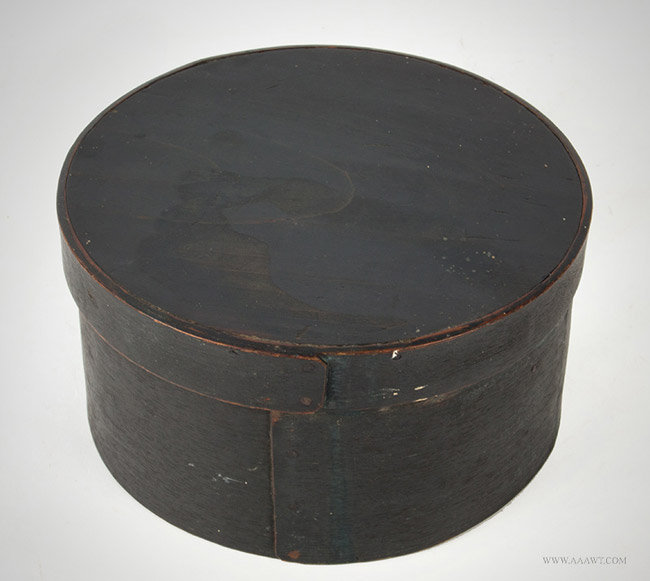Antique Pantry/Spice Box with Original Painted Surface, 19th Century, angle view