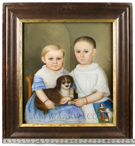 Antique Portrait Folk Art American Portrait Peck