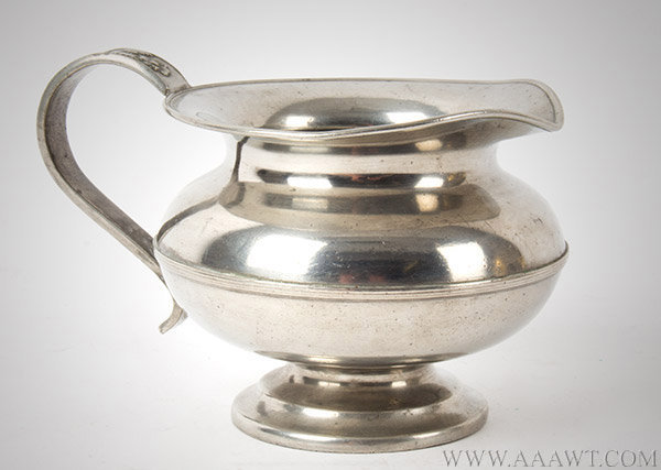 Amerian Pewter Cream Pot, Floral Cast, H.Hale & Co.