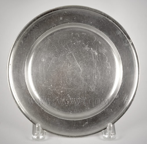 Pewter Plate, Richard Lee (1788 to 1820) or Richard Lee Jr. (1795 to 1816)