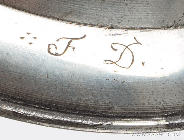 Antique Pewter Twin Eared Porringer,