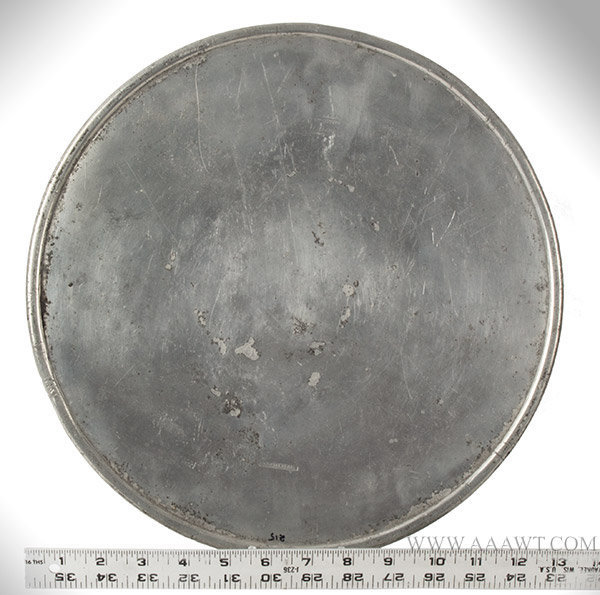 Antique Pewter Scale Plate,