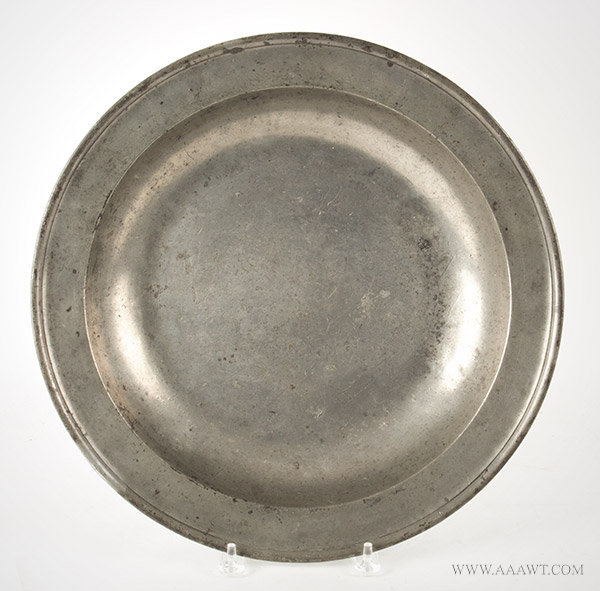 Antique Pewter Deep Dish by Thomas Swanson of London, 1765 to 1783, entire view